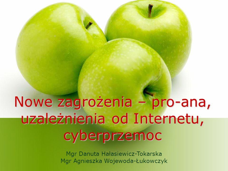 Nowe zagrożenia – pro-ana, uzależnienia od Internetu, cyberprzemoc Mgr Danuta Hałasiewicz-Tokarska Mgr Agnieszka Wojewoda-Łukowczyk