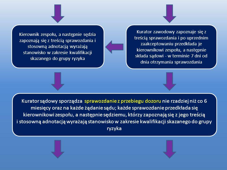 rozporządzenie, w stosunku do osób, wobec których sprawowany jest dozór, ustala trzy grupy ryzyka powrotu do przestępstwa: o grupę obniżonego ryzyka (A) o grupę podstawową (B) o grupę podwyższonego ryzyka (C)