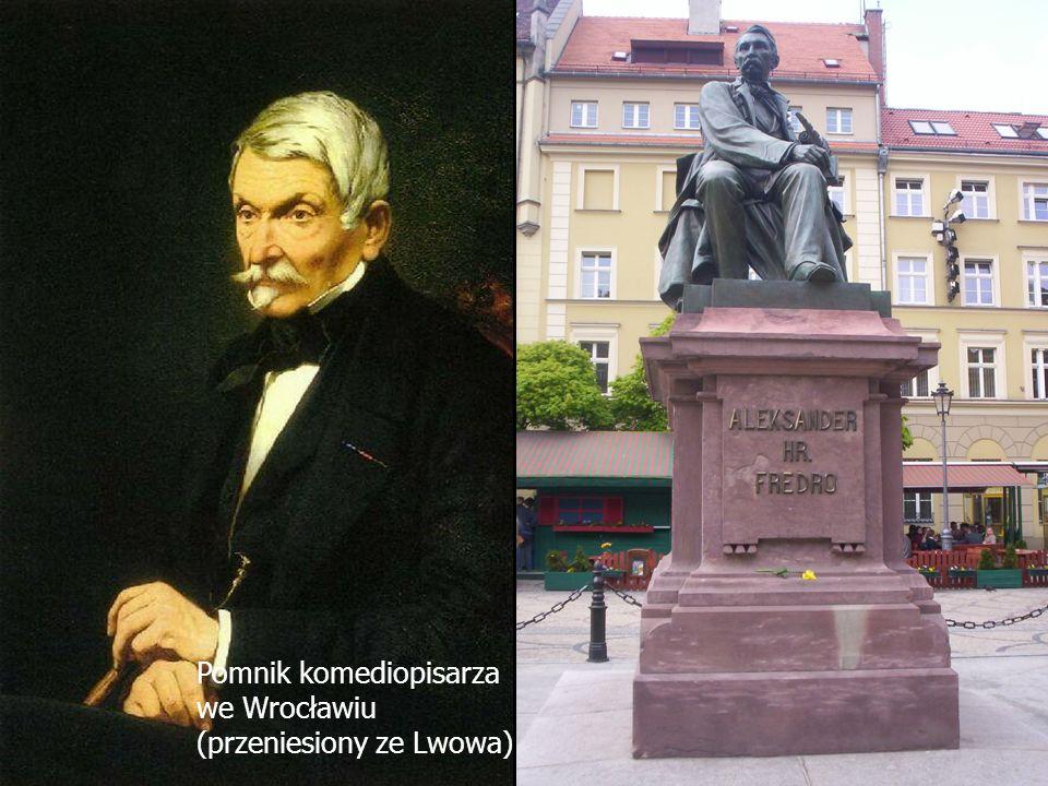 Nasz patron Aleksander Fredro (1793 - 1876) - hrabia, wybitny komediopisarz, a także poeta i pamiętnikarz Aleksander Fredro (1793 - 1876) - hrabia, wy
