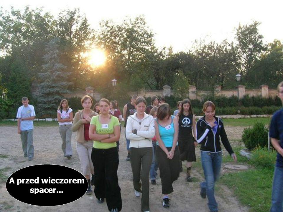 Teścik z angielskiego... Zajęcia integracyjne......i pedagogiczno- psychologiczne A przed wieczorem spacer...