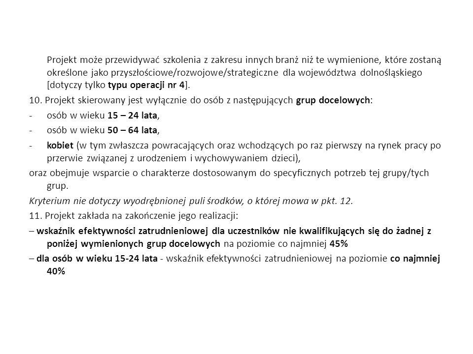 Poddziałanie 8.1.1 Wspieranie rozwoju kwalifikacji zawodowych i doradztwo dla przedsiębiorstw PROJEKTY KONKURSOWE 8.1.1/C/11, 8.1.1/D/11 PLANOWANA ALOKACJA – 14 000 000,00 PLN Typy projektów przewidziane do realizacji w ramach projektu: 1.