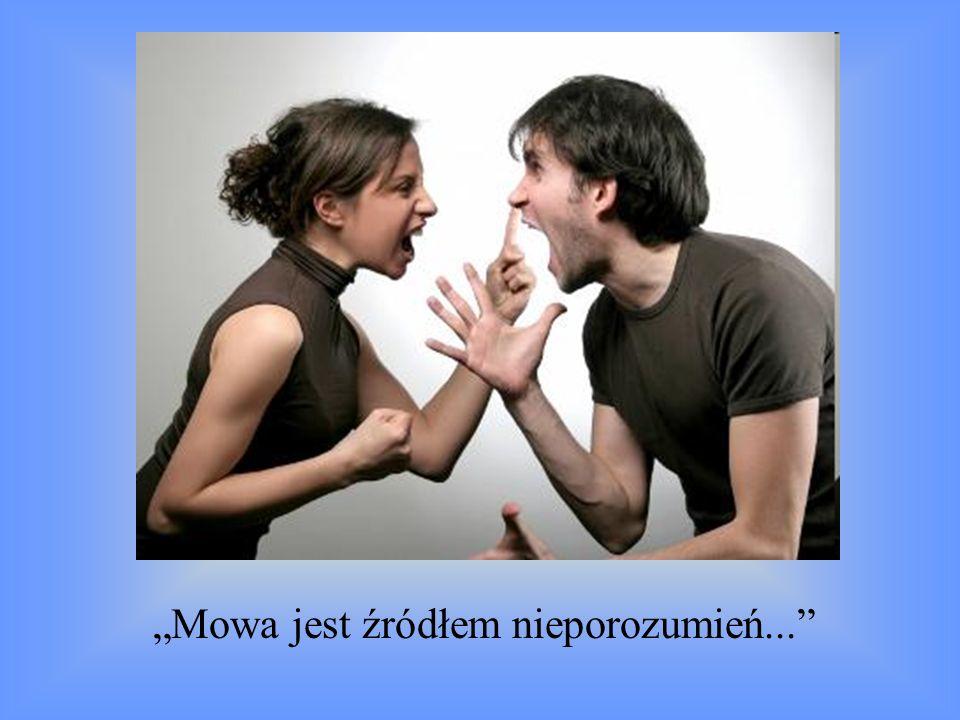 Mowa jest źródłem nieporozumień...
