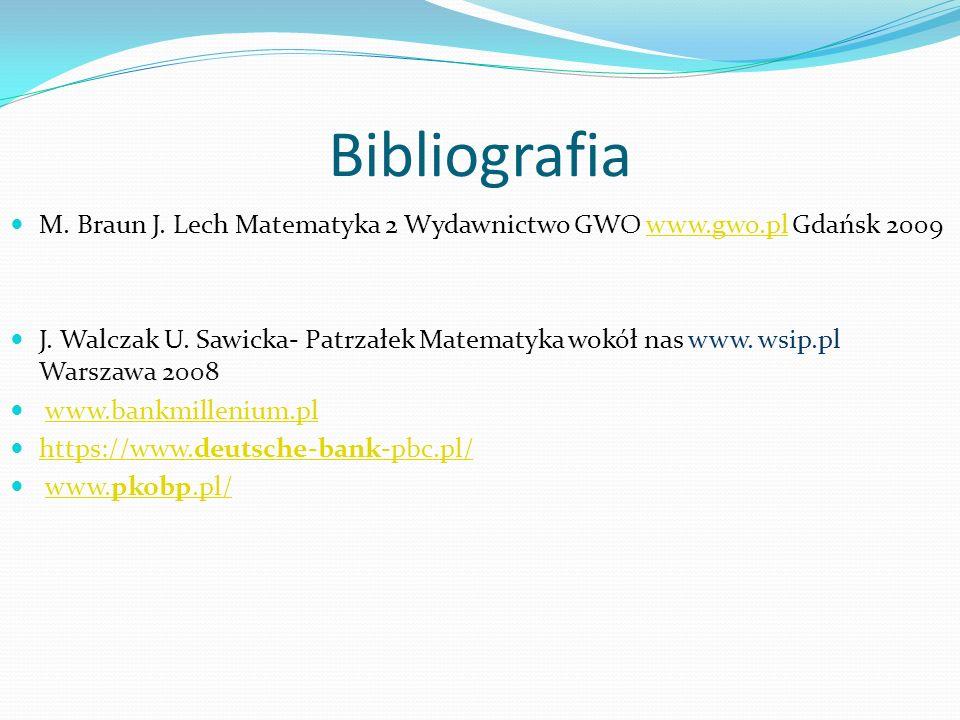 Bibliografia M. Braun J. Lech Matematyka 2 Wydawnictwo GWO www.gwo.pl Gdańsk 2009www.gwo.pl J. Walczak U. Sawicka- Patrzałek Matematyka wokół nas www.