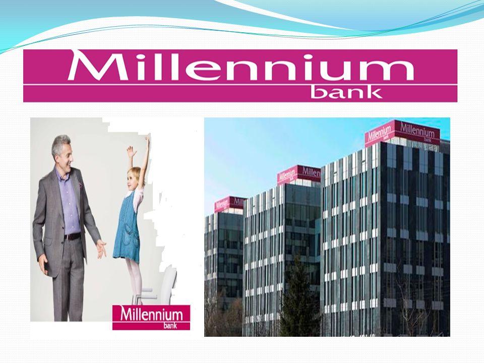 Przykładowy bank Bank Millennium jest ogólnopolskim, uniwersalnym bankiem oferującym swoje usługi wszystkim segmentom rynku poprzez sieć oddziałów, sieci indywidualnych doradców i bankowość elektroniczną.