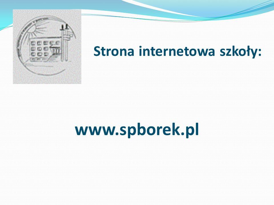 Strona internetowa szkoły: www.spborek.pl