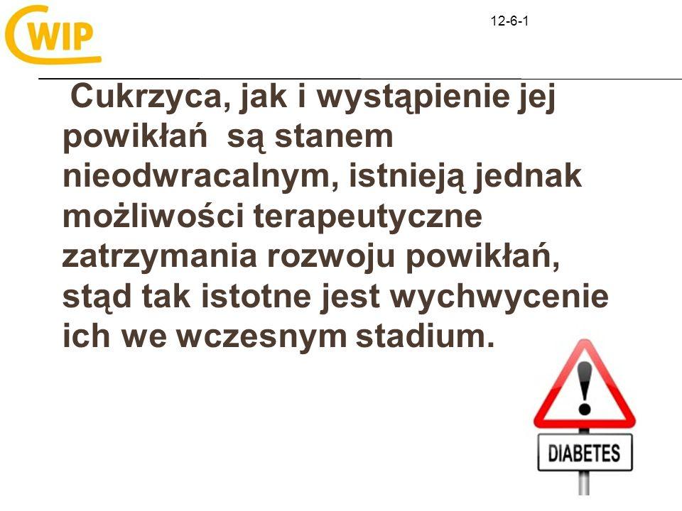 12-6-1 Leczenie cukrzycy typu 1 Niewielu zdaje sobie sprawę, że tak wielu poświęcić musi olbrzymią energię, żeby żyć po prostu normalnie - A.