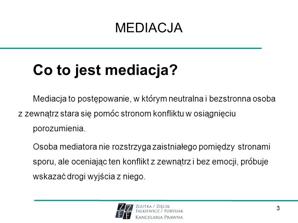 MEDIACJA Dla kogo jest mediacja.