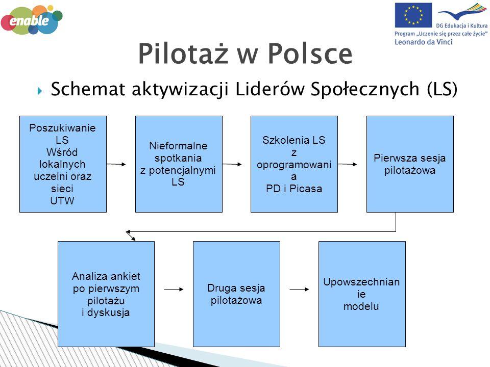 17 maja 2011, 11 czerwca 2011 zaplanowane 3 hours, odbyły się 4 podczas każdej z sesji 22 uczestników, w wieku 30-65, 21 kobiet i 1 mężczyzna Zrekrutowani poprzez izbę gospodarczą, UTW, uczelnię iraz lokalne media, Wszyscy uczestnicy przed kursem mieli adres mailowy 4 osoby uczestniczyły jako część większego schematu szkoleń realizowanego w ramach POKL 6.2 Pilotaż w Polsce