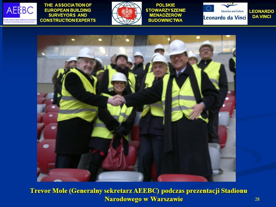 THE ASSOCIATION OF EUROPEAN BUILDING SURVEYORS AND CONSTRUCTION EXPERTS POLSKIE STOWARZYSZENIE MENADŻERÓW BUDOWNICTWA LEONARDO DA VINCI 28 Trevor Mole