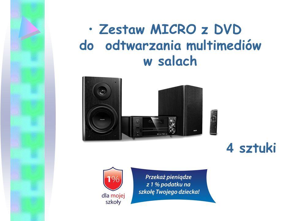 Zestaw MICRO z DVD do odtwarzania multimediów w salach 4 sztuki