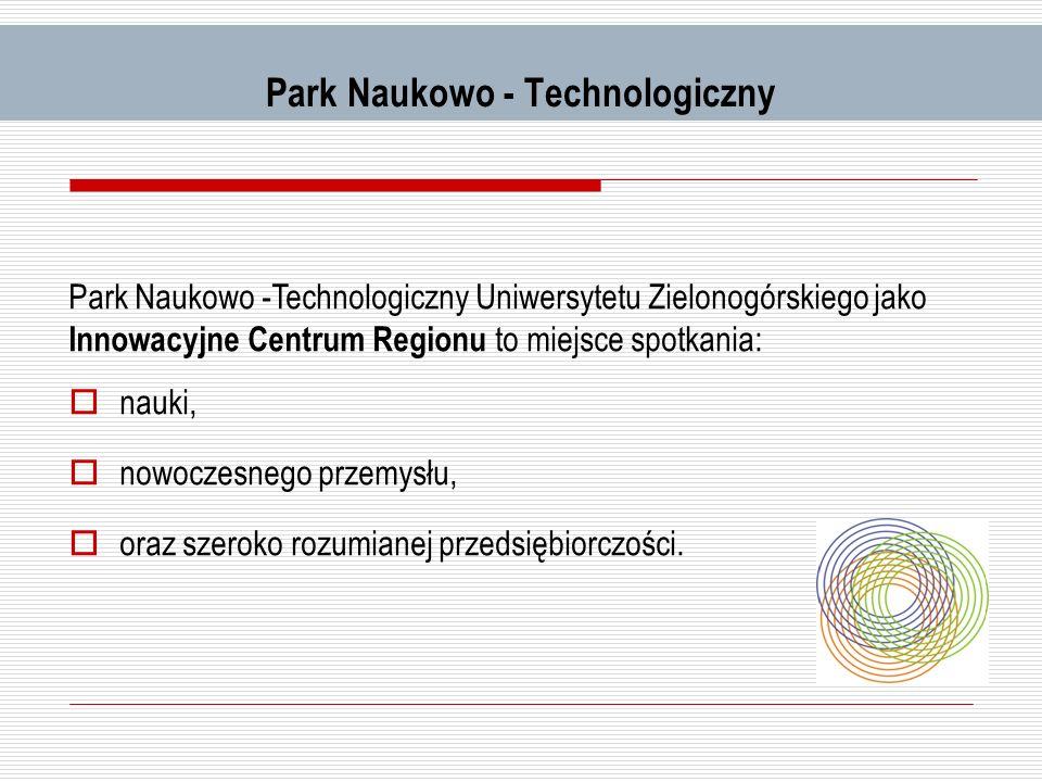 Park Naukowo - Technologiczny Park Naukowo -Technologiczny Uniwersytetu Zielonogórskiego jako Innowacyjne Centrum Regionu to miejsce spotkania: nauki,