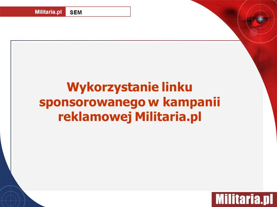 Wykorzystanie linku sponsorowanego w kampanii reklamowej Militaria.pl Militaria.pl SEM