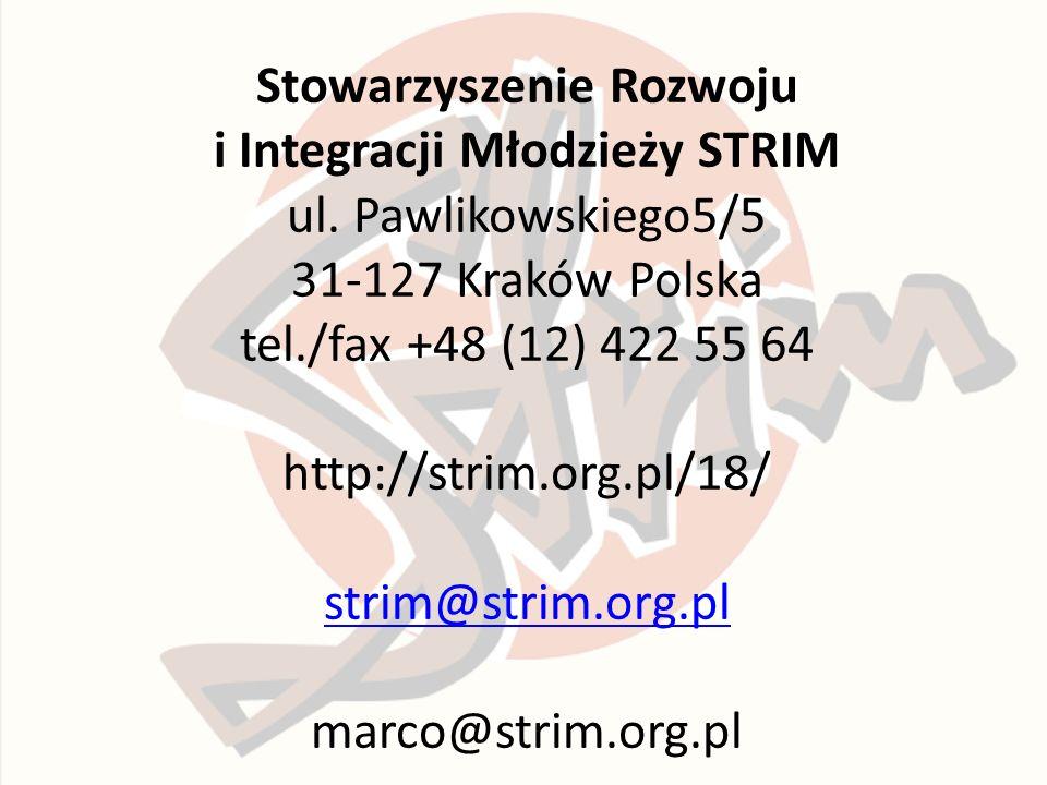 Stowarzyszenie Rozwoju i Integracji Młodzieży STRIM ul.