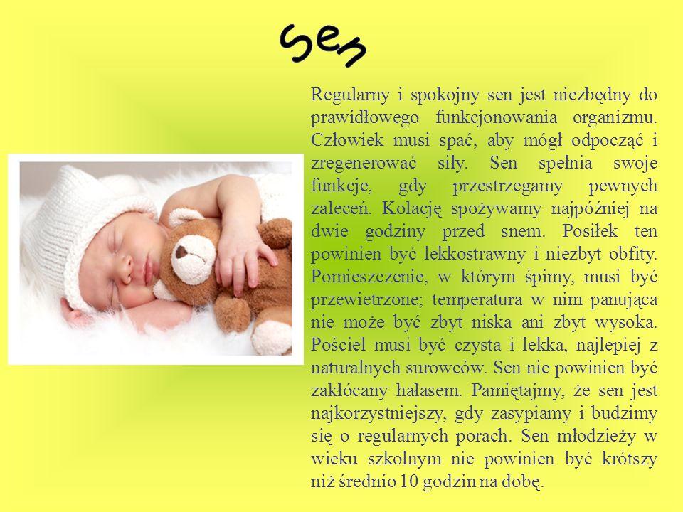 Regularny i spokojny sen jest niezbędny do prawidłowego funkcjonowania organizmu. Człowiek musi spać, aby mógł odpocząć i zregenerować siły. Sen spełn