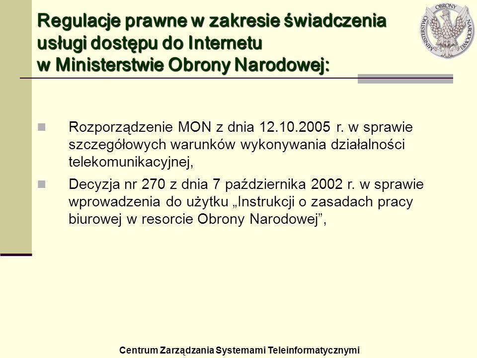 Rozporządzenie MON z dnia 12.10.2005 r. w sprawie szczegółowych warunków wykonywania działalności telekomunikacyjnej, Decyzja nr 270 z dnia 7 paździer