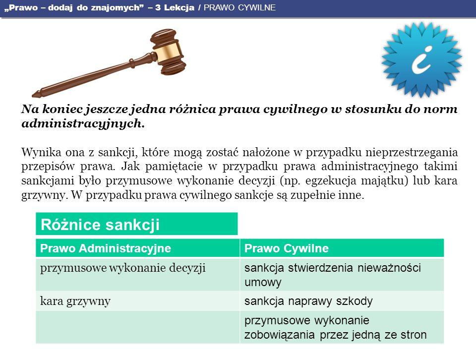Czy pamiętasz z poprzedniej lekcji, kto jest podmiotem stosunków w prawie administracyjnym.