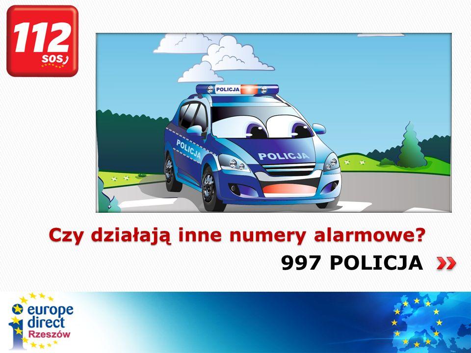 998 STRAŻ POŻARNA Czy działają inne numery alarmowe?