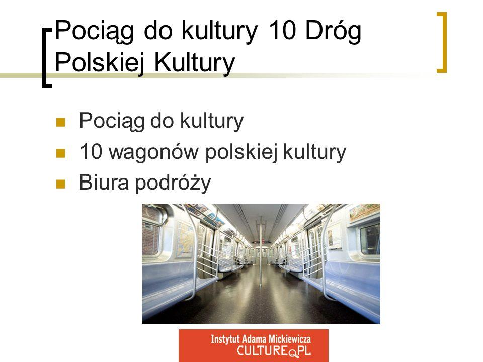 Pociąg do kultury 10 Dróg Polskiej Kultury Pociąg do kultury 10 wagonów polskiej kultury Biura podróży