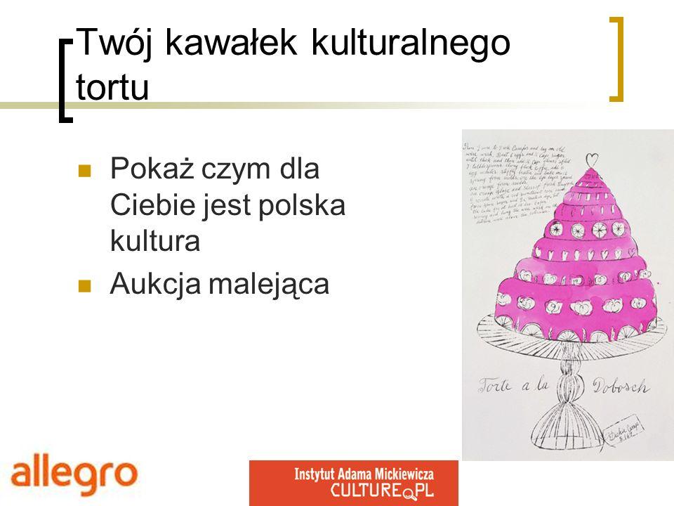 Pokaż czym dla Ciebie jest polska kultura Aukcja malejąca