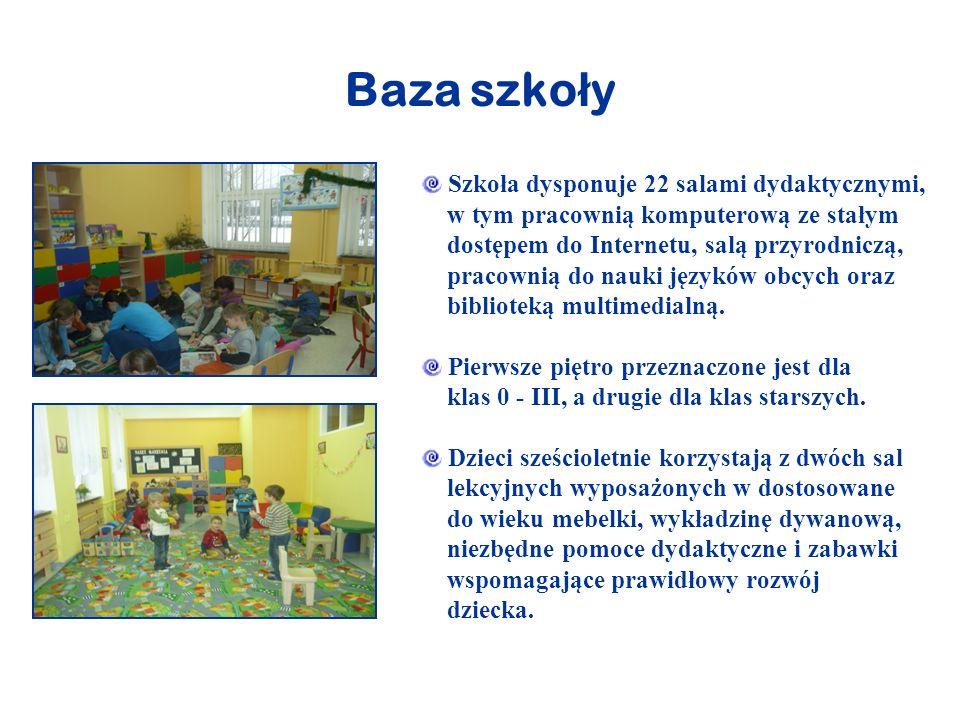 Baza szko ł y Szkoła dysponuje 22 salami dydaktycznymi, w tym pracownią komputerową ze stałym dostępem do Internetu, salą przyrodniczą, pracownią do n