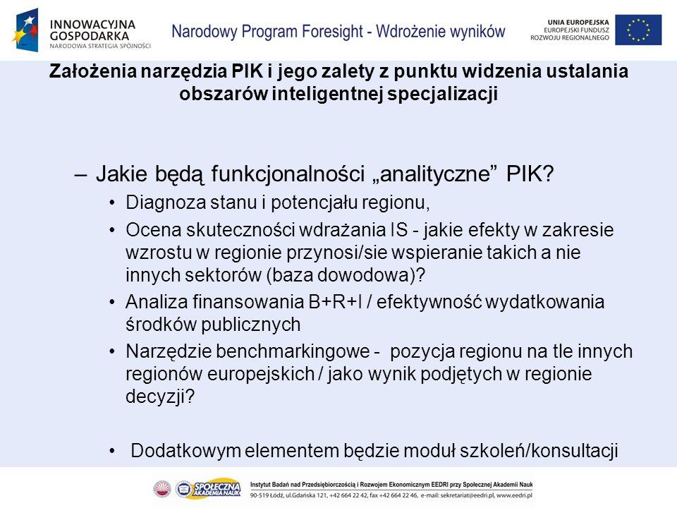 –Jakie będą funkcjonalności analityczne PIK? Diagnoza stanu i potencjału regionu, Ocena skuteczności wdrażania IS - jakie efekty w zakresie wzrostu w
