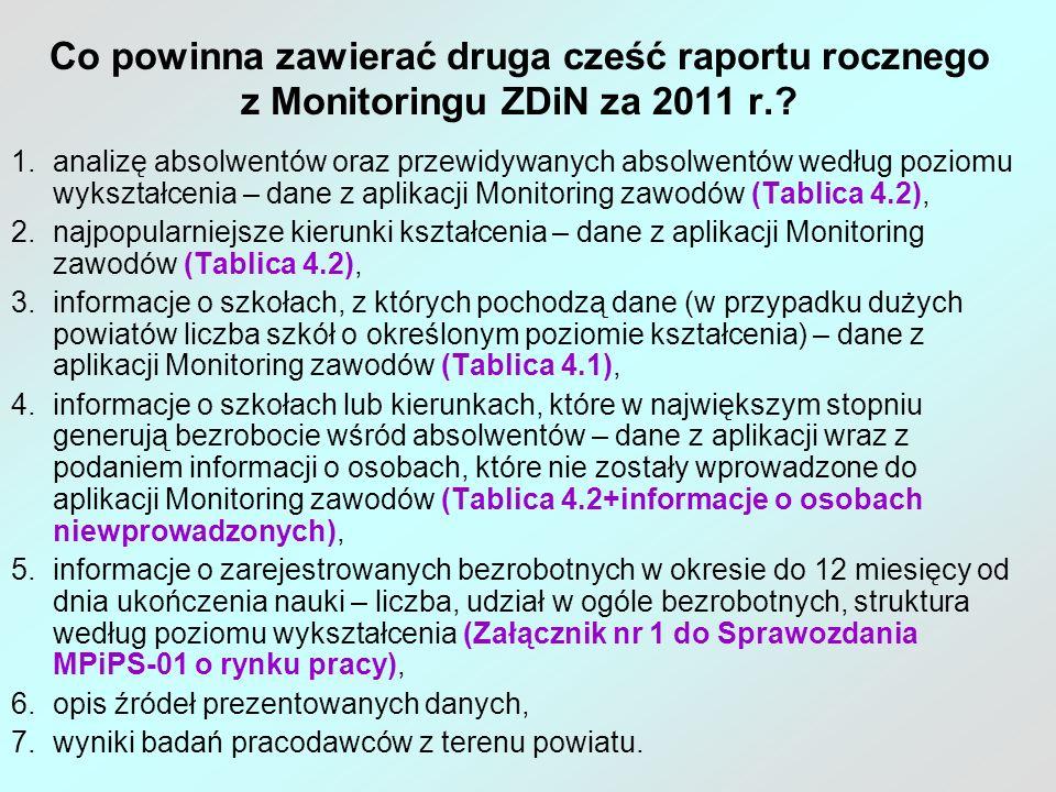 Sugestie dotyczące części diagnostycznej raportów rocznych i półrocznych