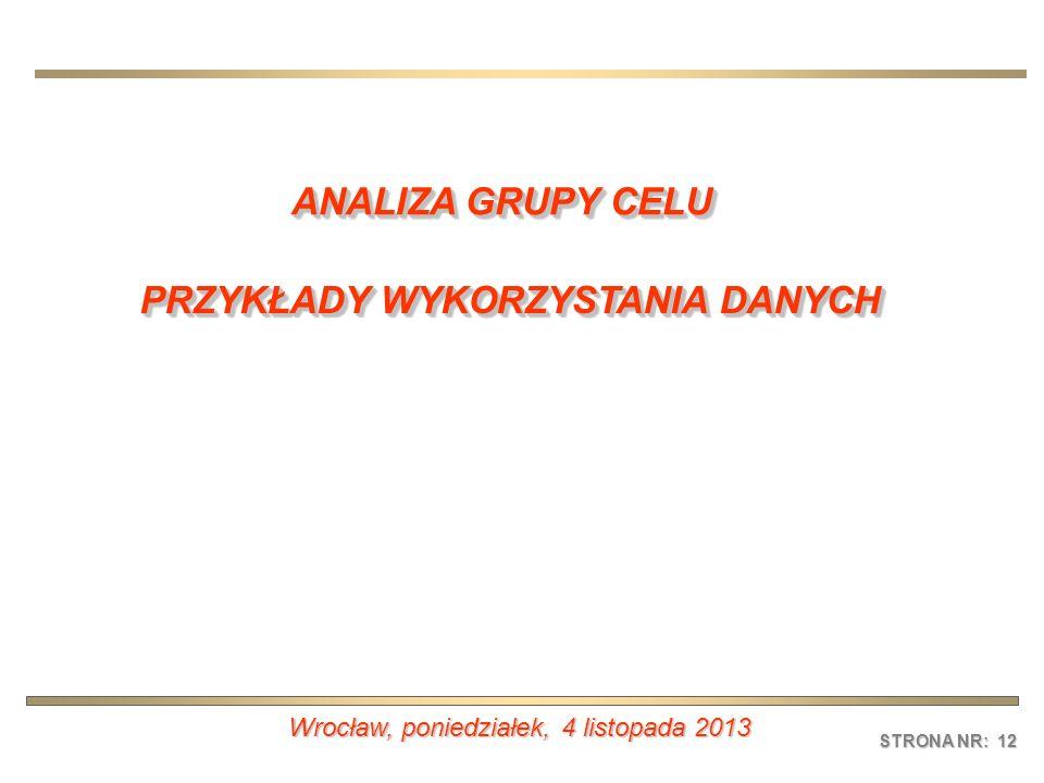 STRONA NR: 12 Wrocław, poniedziałek, 4 listopada 2013poniedziałek, 4 listopada 2013poniedziałek, 4 listopada 2013poniedziałek, 4 listopada 2013 ANALIZ