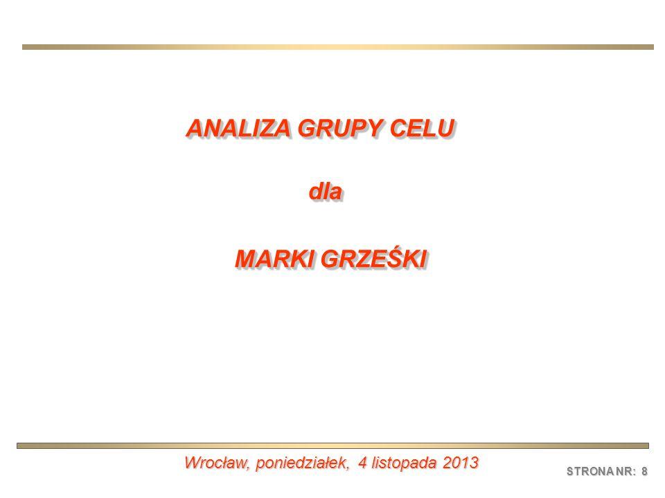 STRONA NR: 8 Wrocław, poniedziałek, 4 listopada 2013poniedziałek, 4 listopada 2013poniedziałek, 4 listopada 2013poniedziałek, 4 listopada 2013 ANALIZA