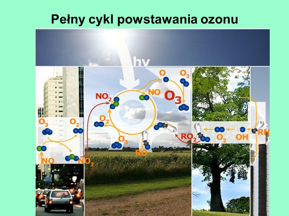 Pełny cykl powstawania ozonu