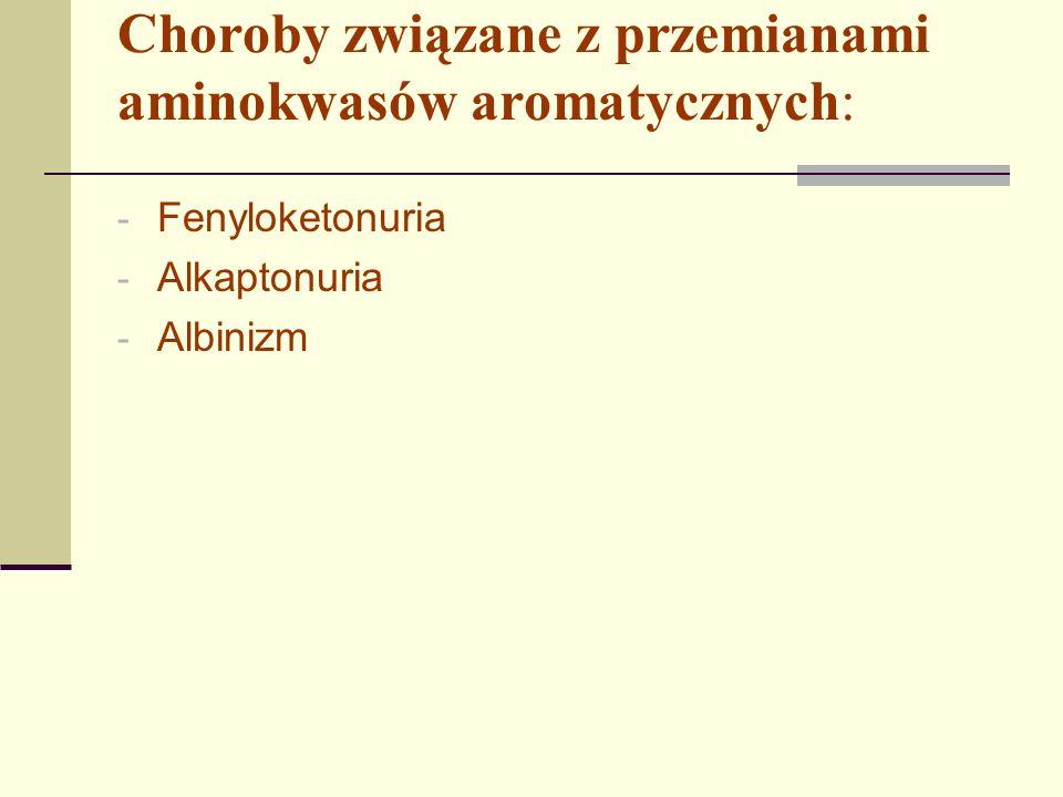 Fenyloketonuria Fenyloketonuria jest chorobą genetyczną spowodowana mutacją, położonego na chromosomie 12 genu PAH kodującego enzym hydroksylazę fenyloalaninową.