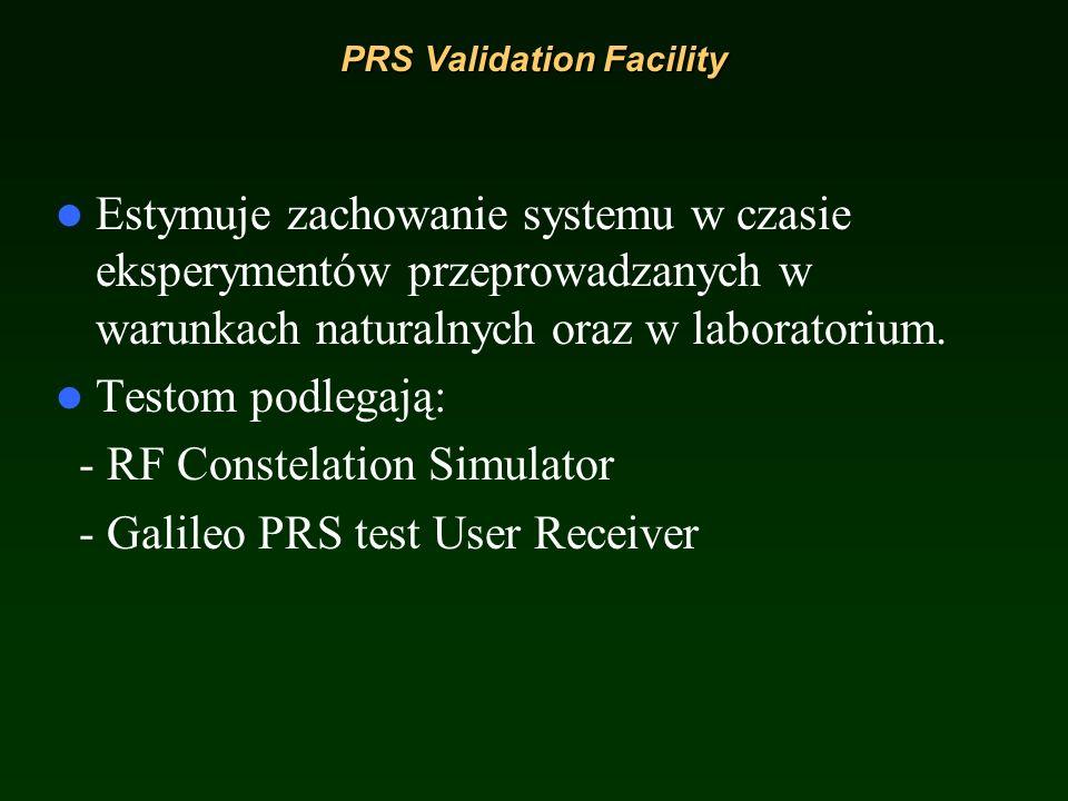 Time and Geodetic Validation Facility (TGVF) It is for validation of the timing and navigation performance (walidacja czasu i wydajności nawigacji), k