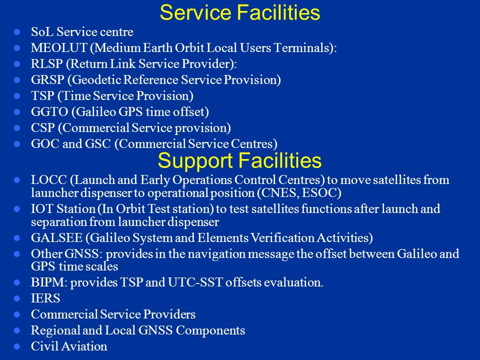 Facilities of GCS in GCC SCCF (Satellite Constellation and Control Facility): provides real-time monitoring and control of satellites and TTC (Telemet