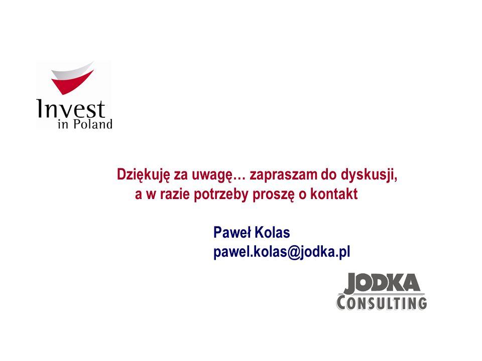 Dziękuję za uwagę… zapraszam do dyskusji, a w razie potrzeby proszę o kontakt Paweł Kolas pawel.kolas@jodka.pl