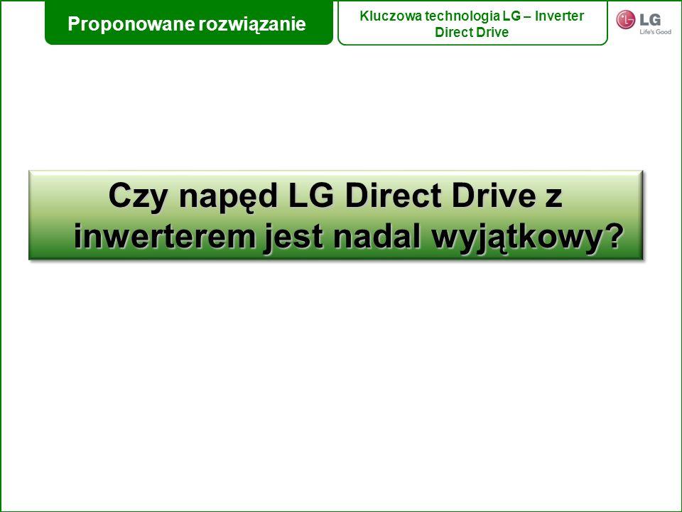 Czy napęd LG Direct Drive z inwerterem jest nadal wyjątkowy? Proponowane rozwiązanie Kluczowa technologia LG – Inverter Direct Drive