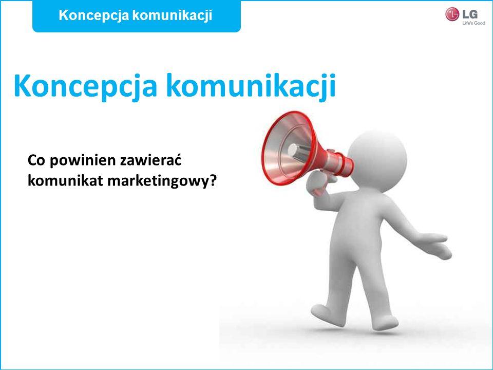 Koncepcja komunikacji Co powinien zawierać komunikat marketingowy? Koncepcja komunikacji