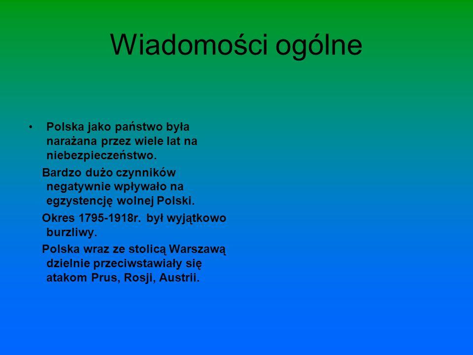 Warszawa pod zaborem pruskim: W 1795 roku upadła Rzeczpospolita, Warszawa z częścią Mazowsza zostaje przyłączona do państwa pruskiego.