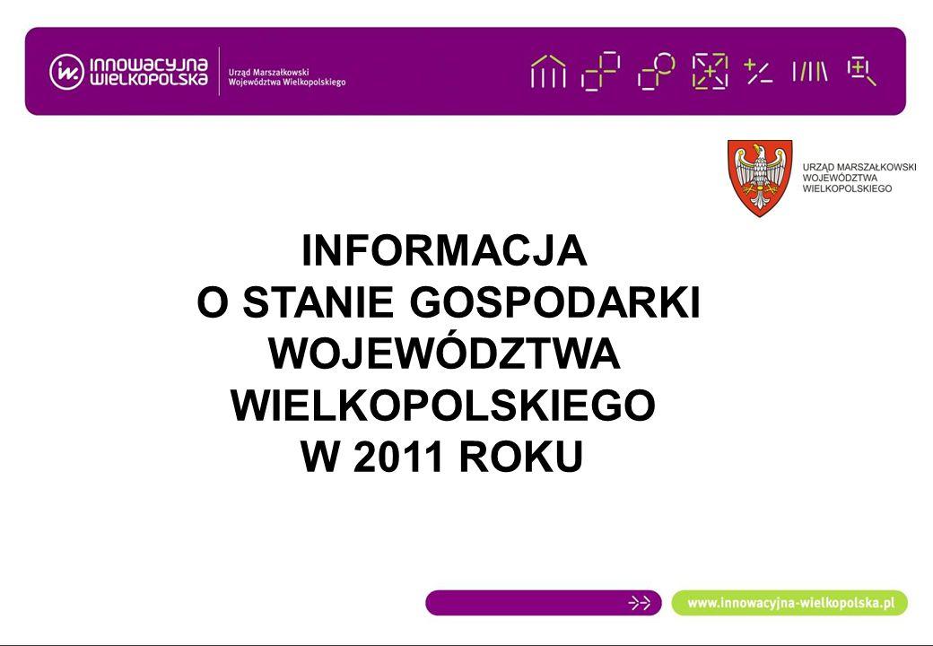 GŁÓWNE WSKAŹNIKI GOSPODARCZE POLSKI - przeciętne miesięczne wynagrodzenie brutto w przedsiębiorstwach województwa wielkopolskiego wzrosło w dstosunku do 2010 r.