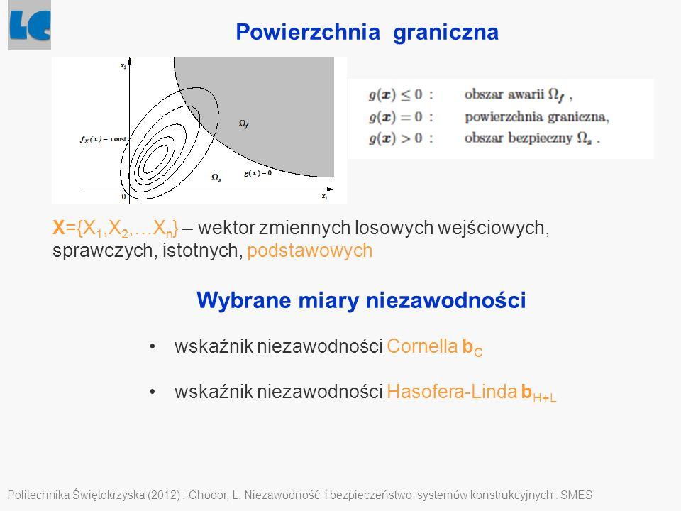 Powierzchnia graniczna Politechnika Świętokrzyska (2012) : Chodor, L. Niezawodność i bezpieczeństwo systemów konstrukcyjnych. SMES X={X 1,X 2,…X n } –