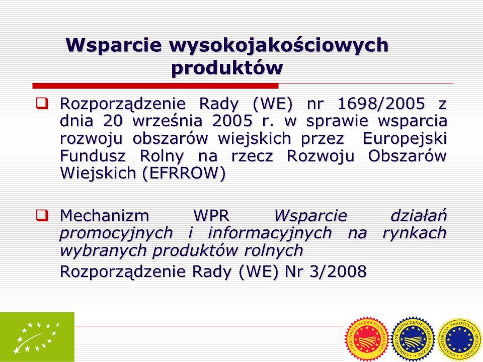 Rozporządzenie Rady (WE) nr 1698/2005 z dnia 20 września 2005 r. w sprawie wsparcia rozwoju obszarów wiejskich przez Europejski Fundusz Rolny na rzecz