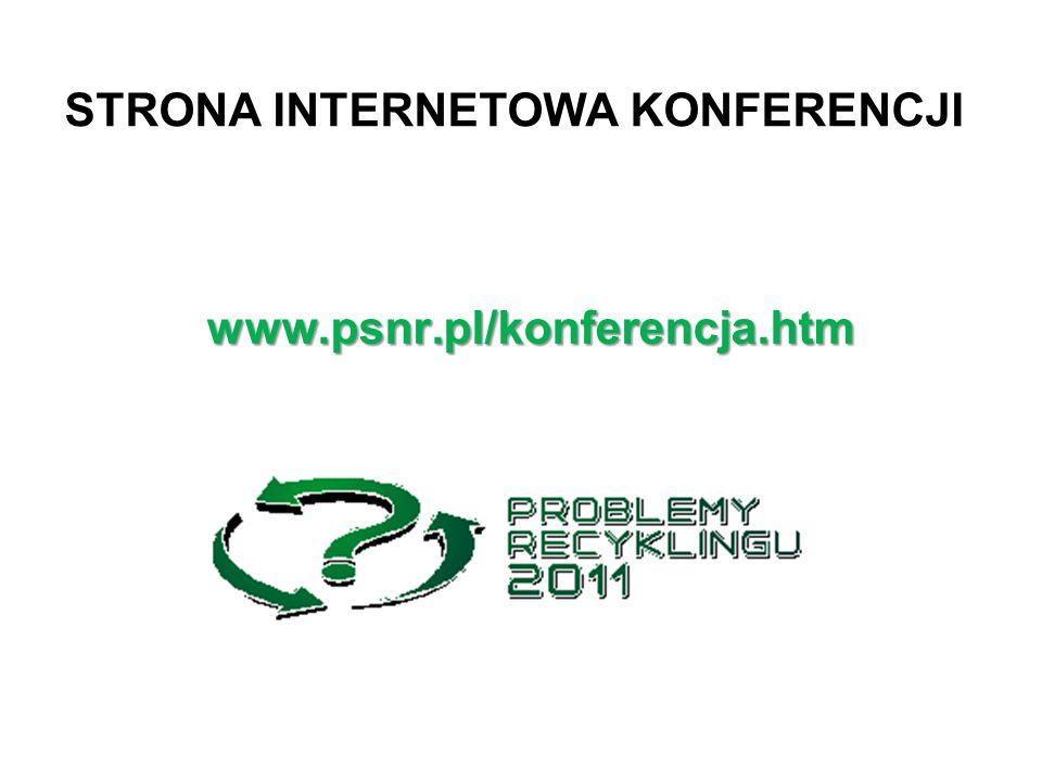 STRONA INTERNETOWA KONFERENCJI www.psnr.pl/konferencja.htm