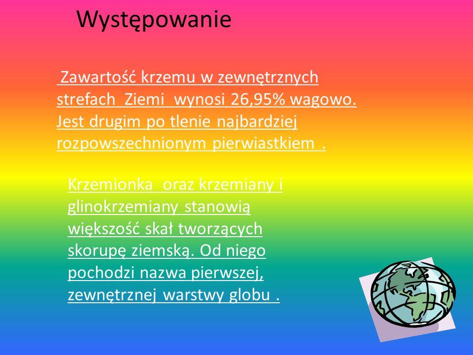 PIERWIASTEK WYIZOLOWANY W 1824 ROKU PRZEZ SZWEDZKIEGO CHEMIKA J. J. BERZELIUSA. Nazwa łacińska pochodzi od słowa SILEX co znaczy krzemień. Nazwa polsk