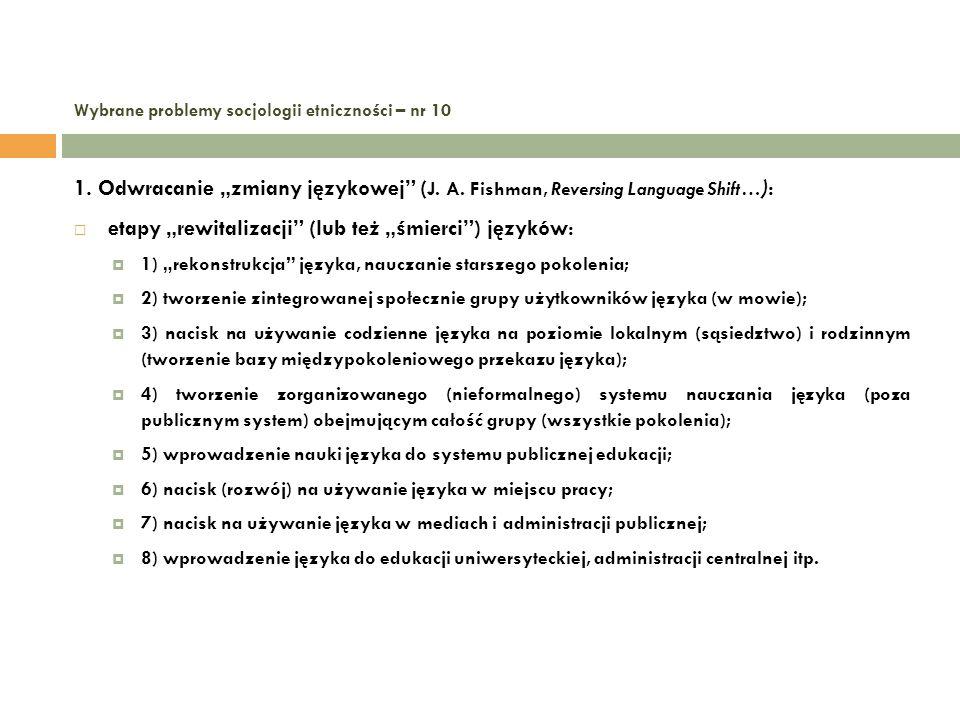 Wybrane problemy socjologii etniczności – nr 10 2.