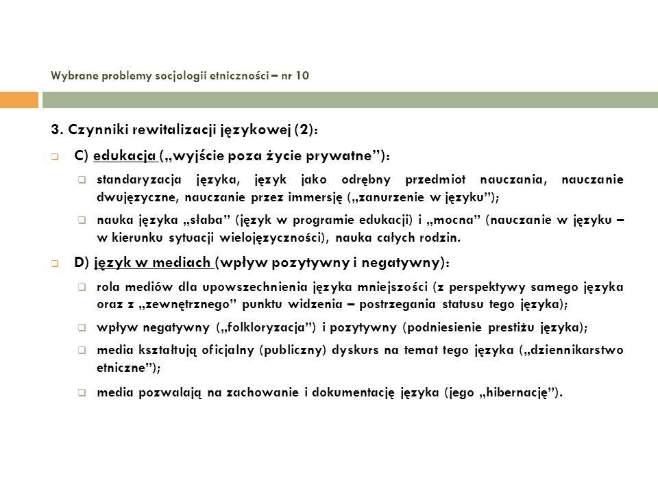 Wybrane problemy socjologii etniczności – nr 10 4.