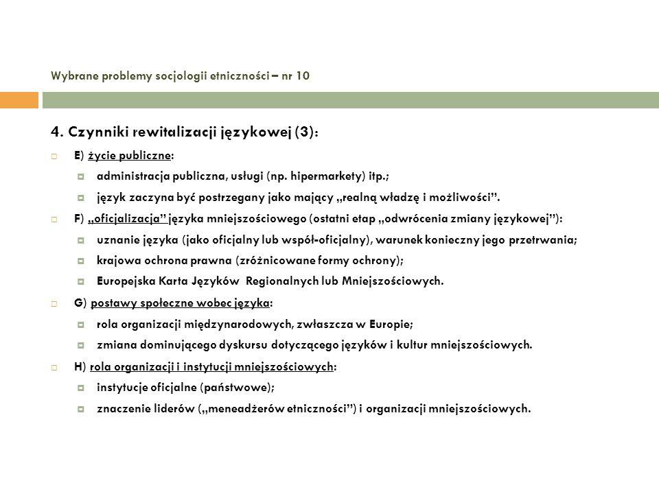 Wybrane problemy socjologii etniczności – nr 10 5.