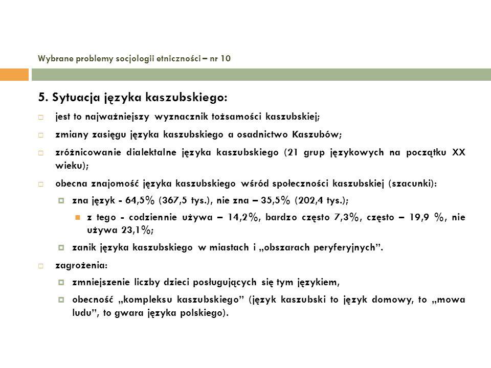 Wybrane problemy socjologii etniczności – nr 10 6.