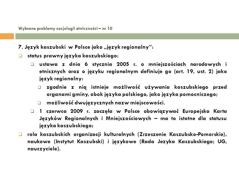 Wybrane problemy socjologii etniczności – nr 10 8.