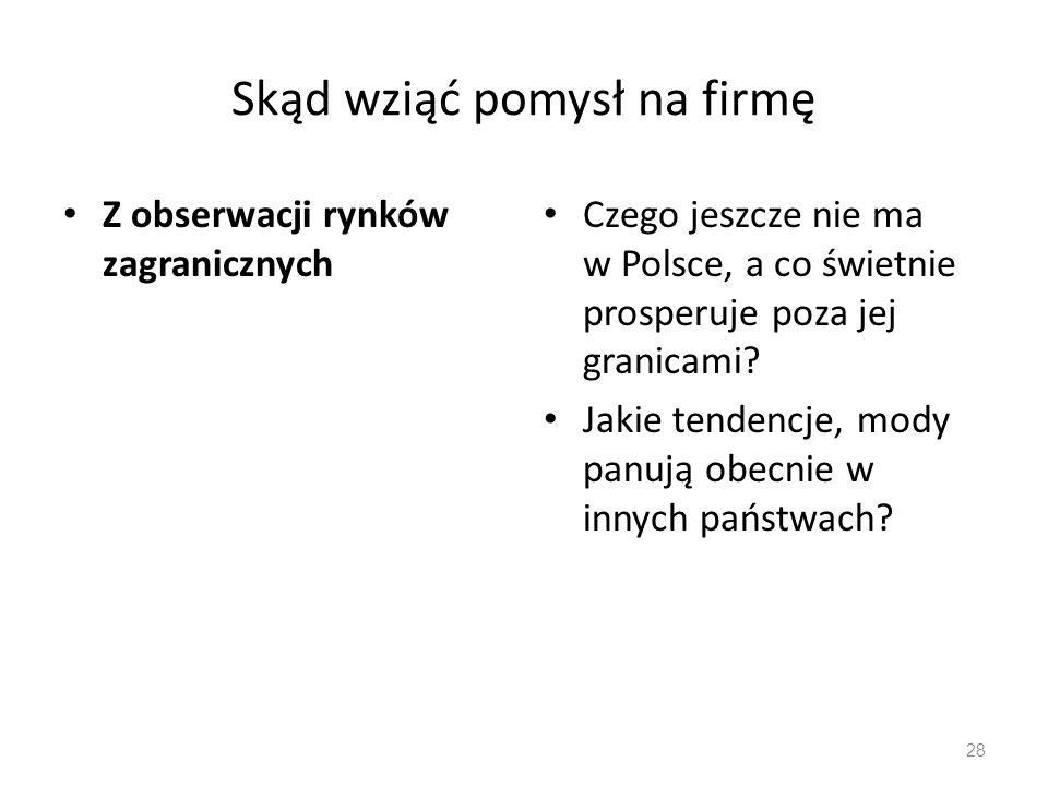 Z obserwacji rynków zagranicznych Czego jeszcze nie ma w Polsce, a co świetnie prosperuje poza jej granicami? Jakie tendencje, mody panują obecnie w i