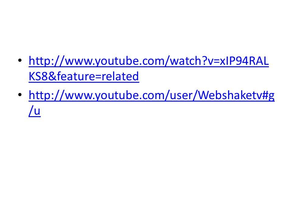 http://www.youtube.com/watch?v=xIP94RAL KS8&feature=related http://www.youtube.com/watch?v=xIP94RAL KS8&feature=related http://www.youtube.com/user/We