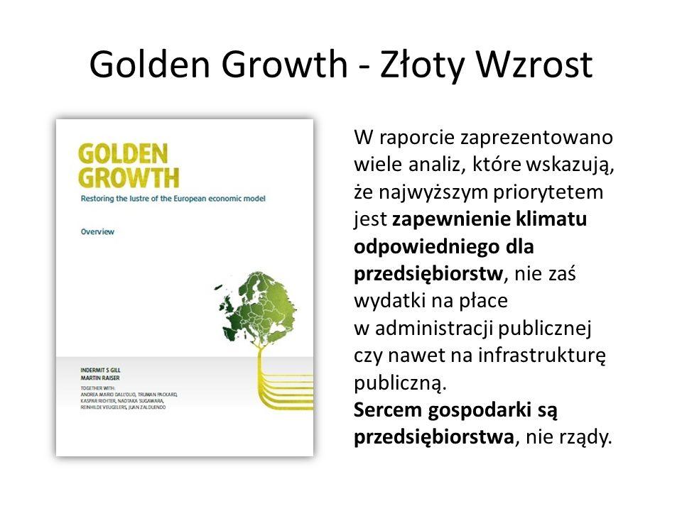 Golden Growth - Złoty Wzrost W raporcie zaprezentowano wiele analiz, które wskazują, że najwyższym priorytetem jest zapewnienie klimatu odpowiedniego