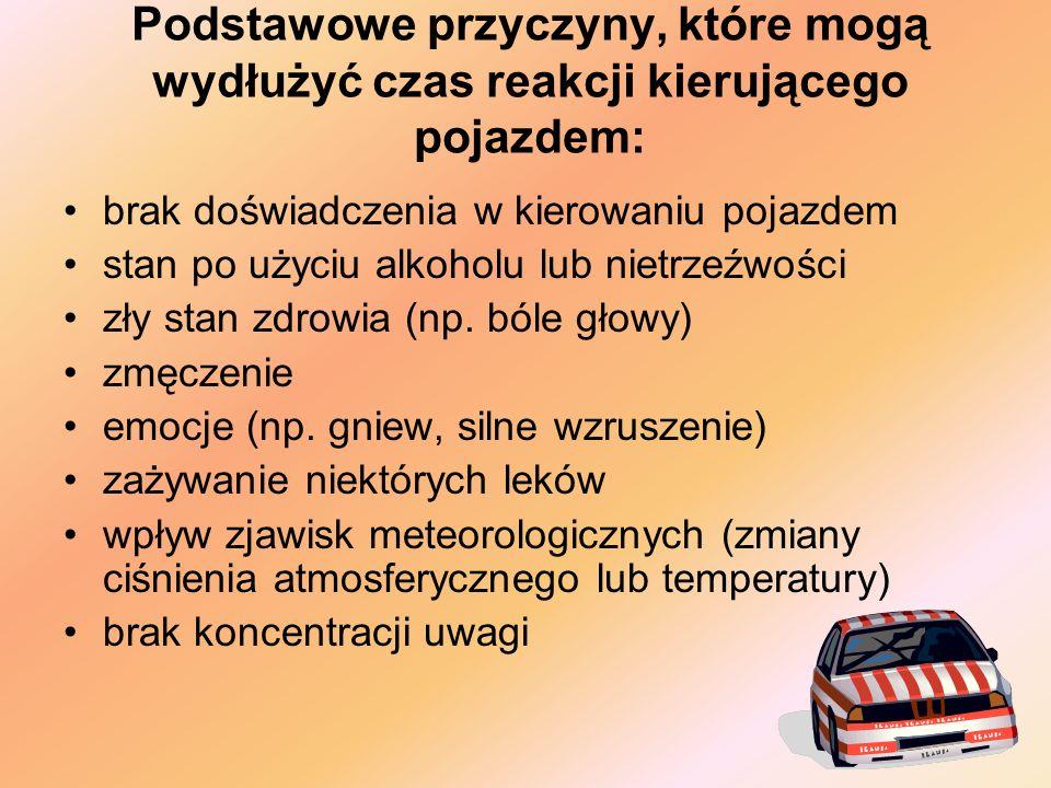 Jeżeli warunki ruchu drogowego wymagają gwałtownego hamowania (np.